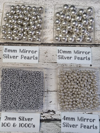 45g Silver 2mm 4mm 8mm 10mm Mirror Pearls Cake Decorations Edible Sprinkles Christmas Celebrations