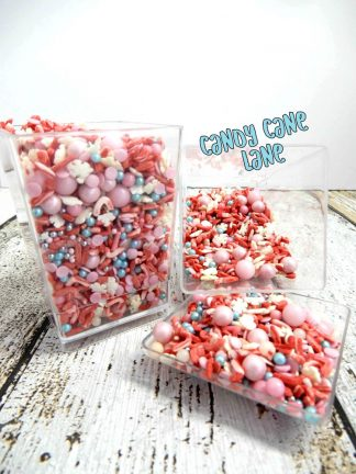 Candy Cane Lane Deluxe Cupcake Sprinkles Decorations