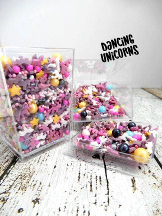Dancing Unicorns Deluxe Cupcake Sprinkles Topper