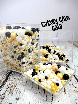 Gatsby Gold Gala Deluxe Cupcake Sprinkles Topper
