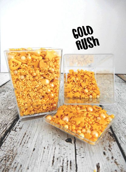 Gold Rush Deluxe Bended Mix Sprinkles Cupcake Cake Decorations