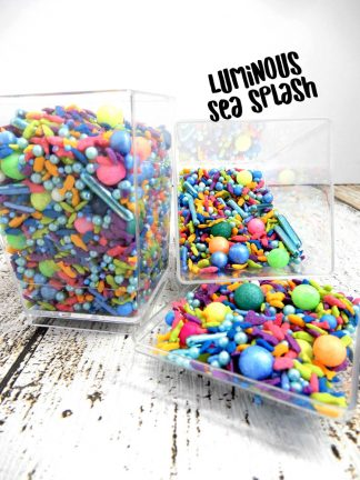 Luminous Sea Splash Deluxe Cupcake Sprinkles Topper