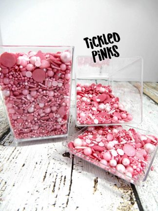 Tickled Pinks Deluxe Edible Sprinkles Cupcake Decorations