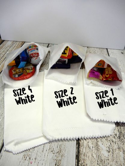 3 Sizes White Paper Bags Made In Australia