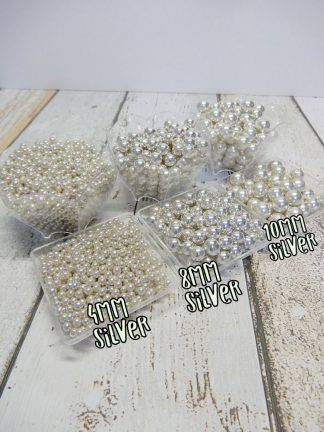 4mm 8mm 10mm Silver Metallic Sugar Pearl Cake Sprinkles