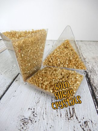 Gold Sugar Crystals Cake Decoration Sprinkles