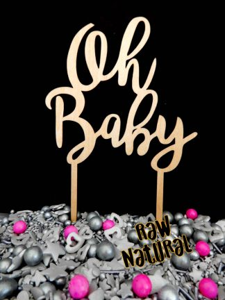 Oh Baby Raw Natural Cake Topper