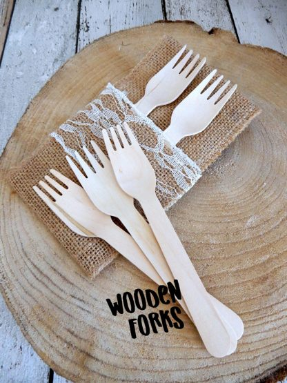 Wooden Forks Made From Sustainable Wood