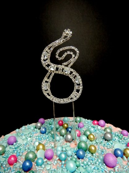 7cm Number 8 Colonial Style Design Diamante Eight Cake Decoration Style