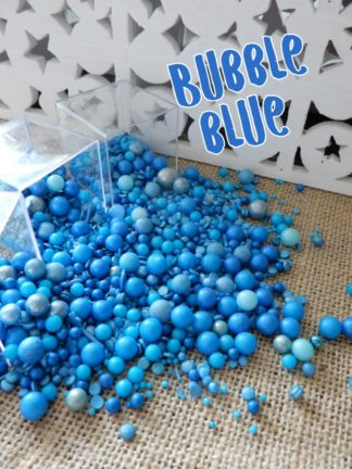Bubble Blue Design Shapped For Cascading Cake Edible Sprinkles Ombre Hues Of Blue