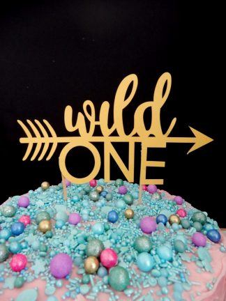 Paper Gold Wild One Cake Topper Decoration Age 1 First Birthday Party