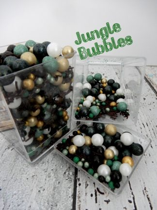 Jungle Bubbles Camouflage Cake Sprinkles Deluxe Mix Greens Blacks White Gold Brown