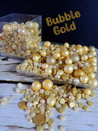 Bubble Golds Round Sugar Pearls Sequins Edible Cake Sprinkles Decorations