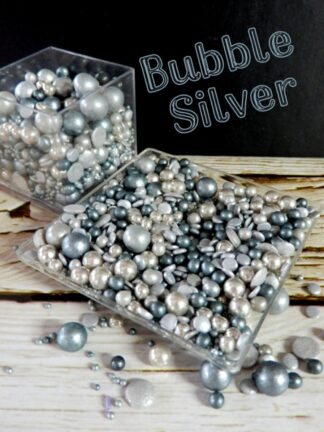 Bubble Silver Round Sugar Pearls Sequins Edible Cake Sprinkles Decorations