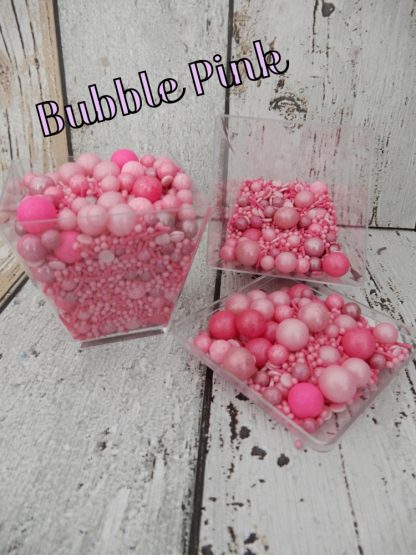 Coloured Bubble Pink Cupcake Sprinkles Shades Of Pink Baubles Decorations