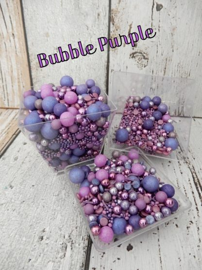 Coloured Bubble Purple Cupcake Sprinkles Shades Of Purple Baubles Decorations
