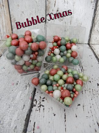 Coloured Bubble Xmas Red Green White Cupcake Sprinkles Shades Of Christmas Baubles Decorations
