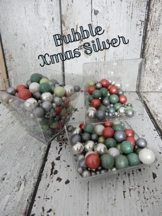 Coloured Bubble Xmas Silver Cupcake Sprinkles Shades Of Christmas Baubles Decorations