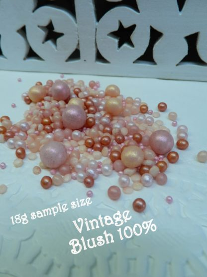 18g Sample Size Vintage Blush Wedding Bubbles Sprinkles Soft Hues Pink Edible Rustice Event