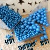 4mm or 8mm Blue Shimmer Pearls