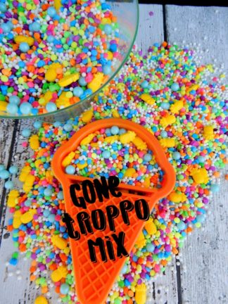 Bright Gone Troppo Mix Rainbow Pinapple Sprinkles Sequins Edible Cake Decorations