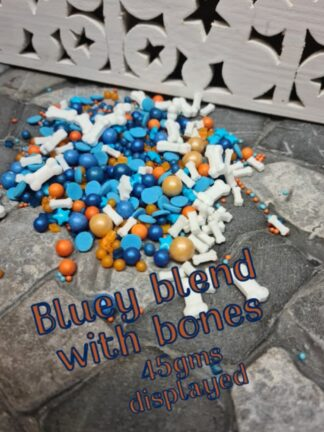 Party Bluey Blend With Edible Bones Sprinkles Mixed Together Cup Cakes Decorating Decorations