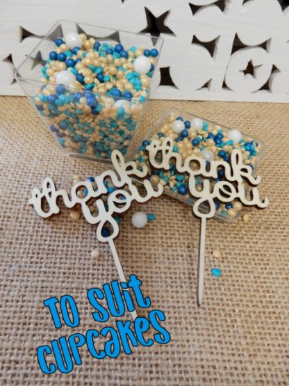 Say Thank You For Or To Teacher Boss Friend Mother Father Picks For Cupcake Decorations