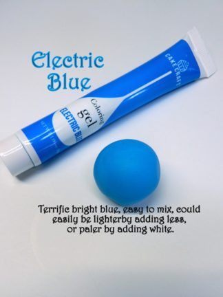 Electric Blue Gel Squeeze Tube Paste Food Colourings Fondant Icing Cookie Dough