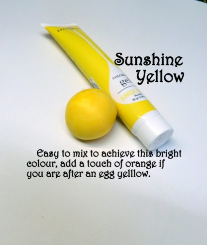 Sunshine Yellow Gel Squeeze Tube Paste Food Colourings Fondant Icing Cookie Dough