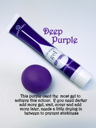 Deep Purple Gel Squeeze Tube Paste Food Colourings Fondant Icing Cookie Dough