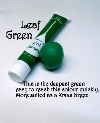 Leaf Green Gel Squeeze Tube Paste Food Colourings Fondant Icing Cookie Dough (1)