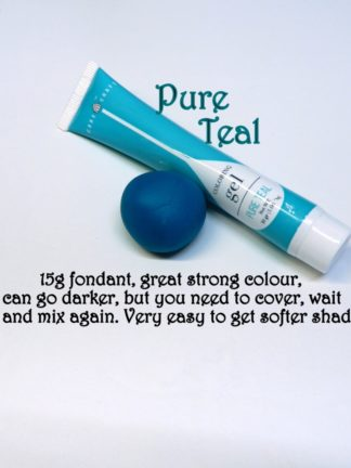 Teal Gel Squeeze Tube Paste Food Colourings Fondant Icing Cookie Dough