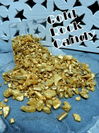 Gold Shimmer Rock Sugar Candy Geo Cake Galaxy Shiny Seam Colour Edible Sprinkle Decoration