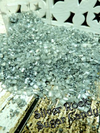 Silver Sugar Rock Candy Crystals For Geo Geode Cake Birthday Weddings Party Decorations