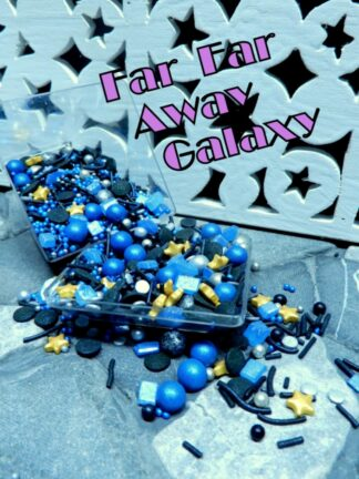 Blue Black Far Away Galaxy Out Of Space World Baubles Star Rock Candy Edible Sprinkle Decorations