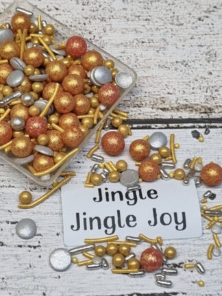 Jingle Bells Merry Xmas Gold Red Silver Christmas Edible Sprinkles Cake Decorations