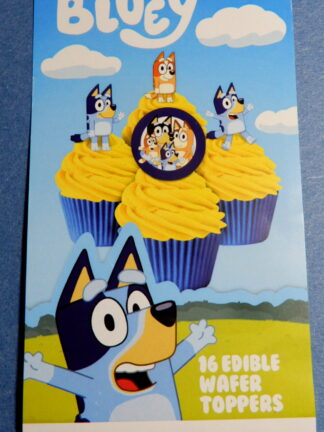 Bluey Cake Packet Display Cupcake Wafer Deocrations 16 Precut Pop Out Bingo Heeler Family