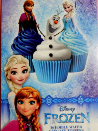 Frozen Disney Cake Packet Display Cupcake Wafer Deocrations 16 Precut Pop Out Anna Elsa Olaf Family