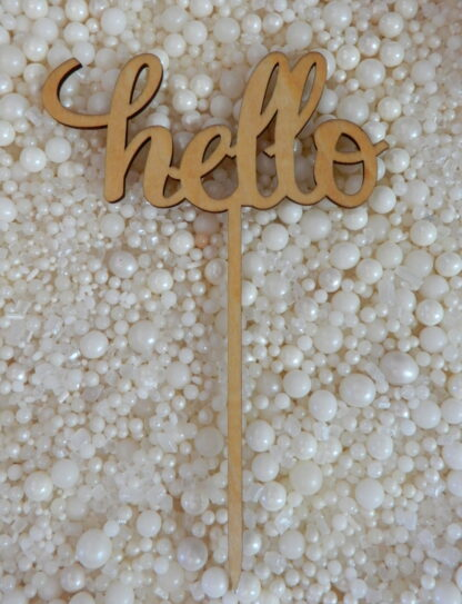 Hello Cake Topper To Match With Numbers 1 2 3 4 5 6 7 8 9 0 18 21 10 16 29 20