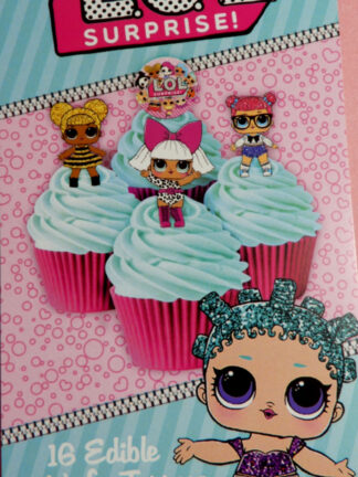 Little Outrageous Littles Dolls L.o.l. Suprise Edible Cupcake 16 Images Wafer Decorations