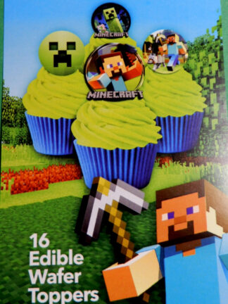 Minecraft Edible Cupcake Toppers Lego Jungle Blocks Style War Of The World Game Logo Wafer Decorations