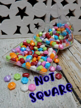 Not Square Raised Hexagon Sprinkles Teen Titans Mix Edible Cake Decorations
