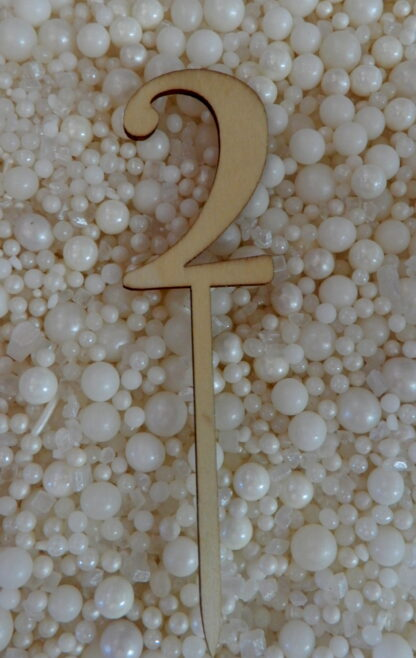 Number 2 Two Matches Hello Raw Natural Cake Topper To Match With Numbers 1 2 3 4 5 6 7 8 9 0 18 21 10 16 29 20