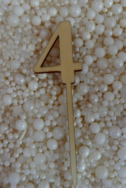 Number 4 Four Matches Hello Raw Natural Cake Topper To Match With Numbers 1 2 3 4 5 6 7 8 9 0 18 21 10 16 29 20