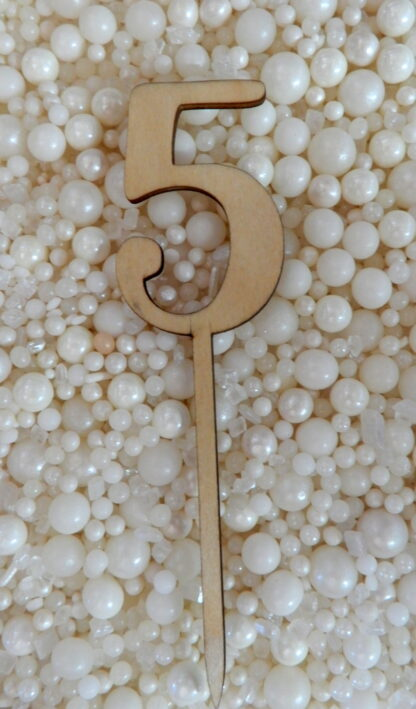 Number 5 Five Matches Hello Raw Natural Cake Topper To Match With Numbers 1 2 3 4 5 6 7 8 9 0 18 21 10 16 29 20