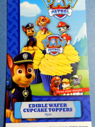 Paw Patrol Edible Cupcake Toppers Chase Zuma Marshall Rubble Rocky Skye Logo Wafer Decorations