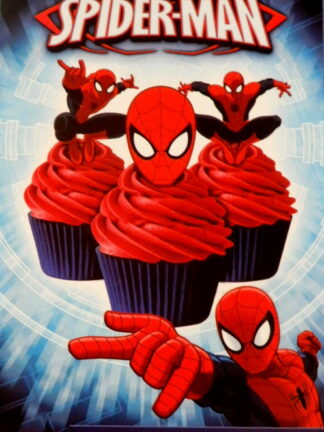 Spiderman Mask Cupcake 16 Wafer Precut Edible Images Decoration Action Figures