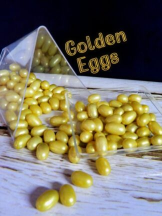 Golden Oval Shaped Eggs Easter Celebrations Edible Cupcake Decorations Sprinkles