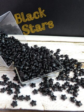 Smooth Black Stars Edible Cake Deocrations Sprinkles Cupcake Biscuits Christmas Halloween Celebrations