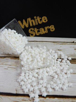 Smooth White Stars Edible Cake Deocrations Sprinkles Cupcake Biscuits Christmas Wedding Birthday